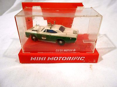 Mini Motorific GTX Police Car in original plastic case 1:43 scale
