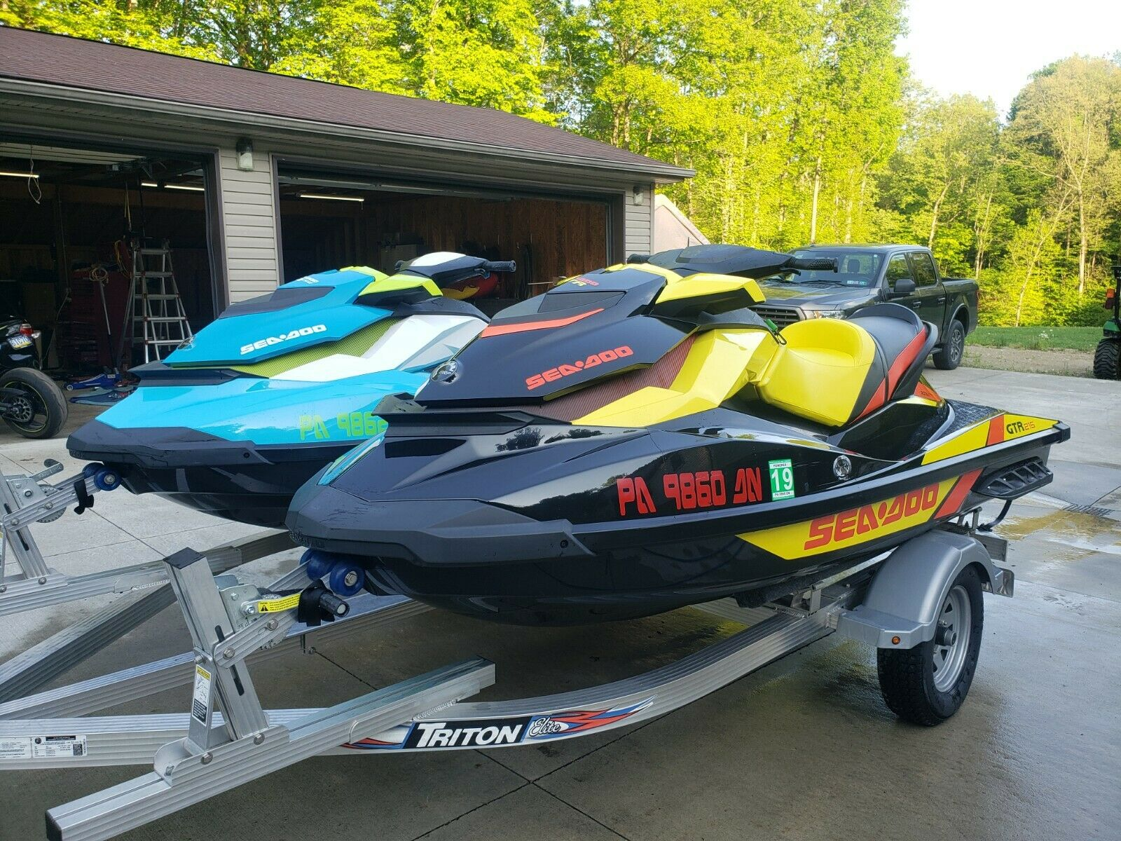 2015 Sea-Doo GTR215 and GTI130 and Trailer. Low Hours