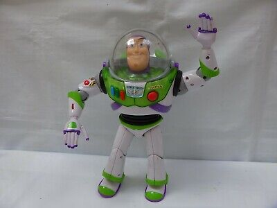 DISNEY PIXAR THINKWAY TOY STORY BUZZ LIGHTYEAR 12'' TALKING FIGURE TOY POP OUT W](Buzz Lightyear Female)
