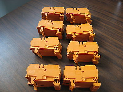 Lot of 40 Allen Bradley 1492-L3 Orange Terminal Blocks (2.5mm)