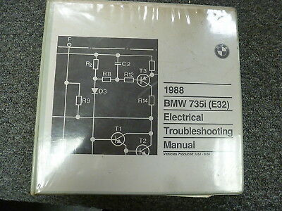 1988 BMW 735i E32 Sedan Electrical Wiring Troubleshooting Service Repair Manual
