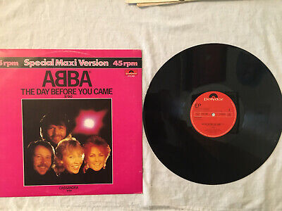 """ABBA The Day Before You Came Cassandra 12"""" black vinyl record Holland pic sleeve"""