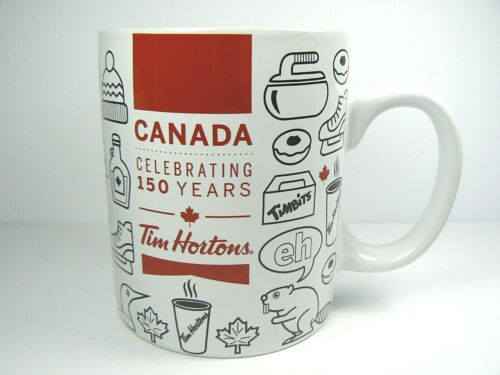 BRAND NEW Tim Hortons Mug Canada Canadiana Celebrating 150 Years 2017 CERAMIC