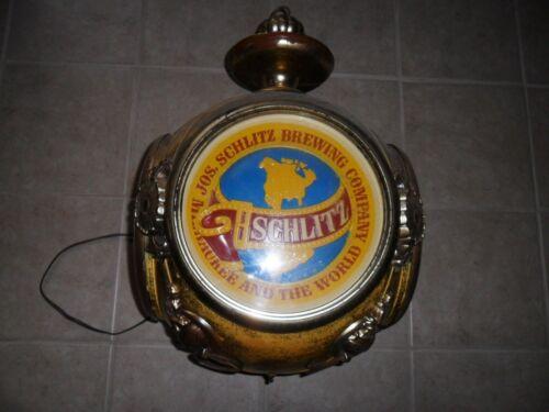 Large Vintage 1972 Schlitz Revolving Beer Light Sign