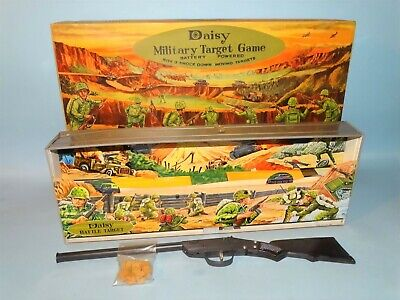 DAISY MILITARY TARGET GAME, Rare Vintage, Made in Japan, Tin Toy, Boxed, Works!