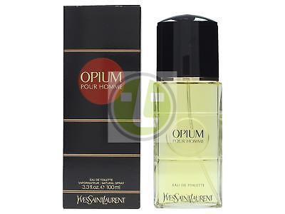 Opium Eau De Toilette Spray (YSL Opium Pour Homme Edt Spray 100ml MEN Eau de Toilette)