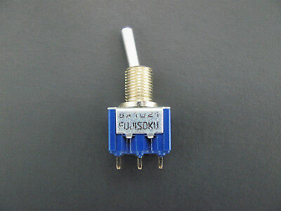 Spdt Toggle Switch - On-off-on - 6a 125v - Pc Pin Terminals - Fuji 8a1021a