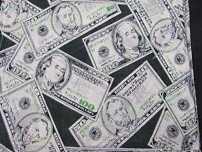 Money Dollar Bill $100 $50 Denominations Bandana buy 1,2 or three SUPER DISCOUNT