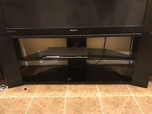 Hitachi rear projection tv with stand