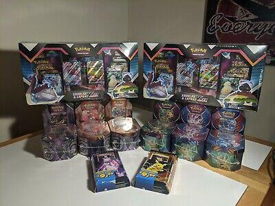 Pokemon Snorlax/Lapras Vmax Collection Box X2, Evolution Fall Tinx12, Theme Deck
