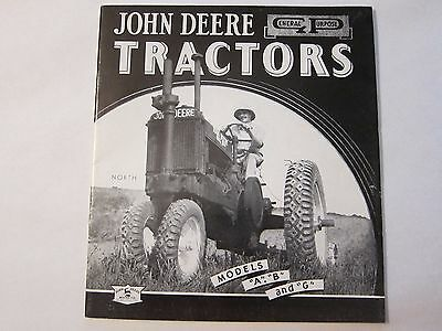 John Deere A B G General Purpose Tractor Dealer Brochure Lots More Listed