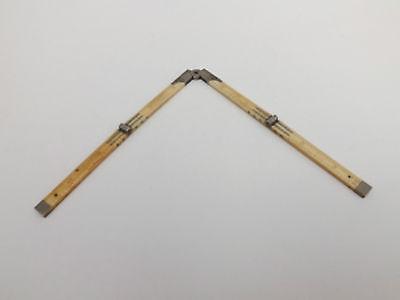 Antique 18th Century 12 Inch Folding Rule/Ruler