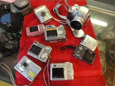 9 lot digital camera Sony polaroid Kodak easyshare vivitar fujifilm Panasonic +