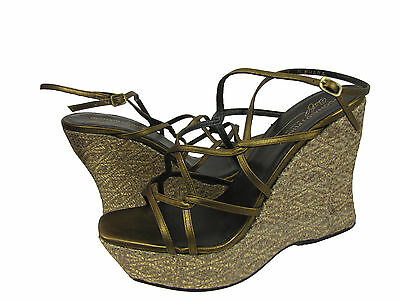 Donald J Pliner Womens Shaba Brown Bronze Ankle Strap Platform Wedge Sandals  Donald J Pliner Ankle Strap Platforms