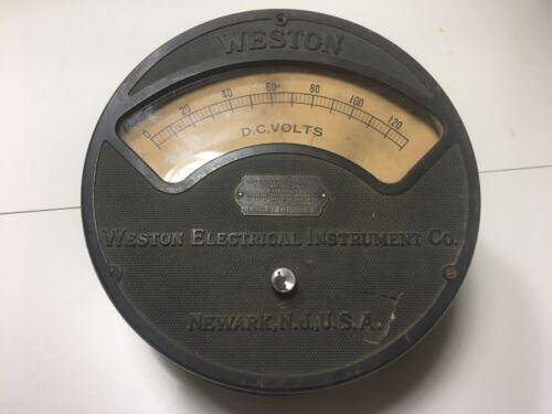 VINTAGE Weston Electrical Instrument Co Voltmeter Model 57 0-130v