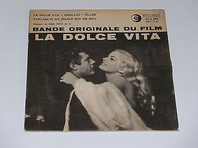 45 Upm B.O.F - Die Dolce Vita - Nino Rotta - 1972 - Pressgerät Italien