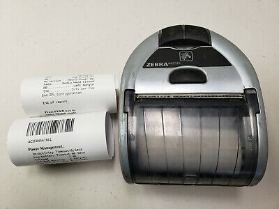 Zebra Imz320 Mobile Wireless Bluetooth Thermal Receipt Printer M3i-0ub00010-00