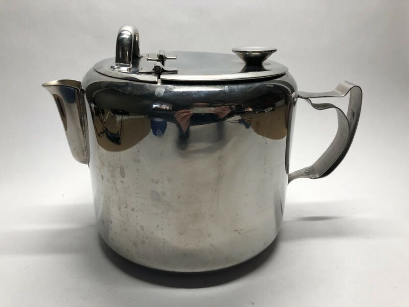 Vintage Pointerware Unique Stainless Steel Kettle Teapot ~2.5qt Capacity