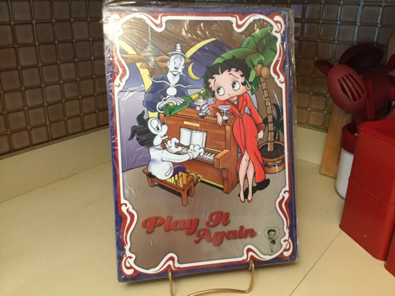 Betty Boop Play It Again Metal Sign Brand New In Plastic