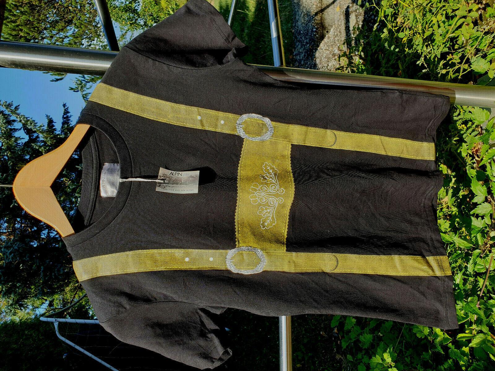 Alpin de Luxe Trachtenshirt Gr. S golden glänzend