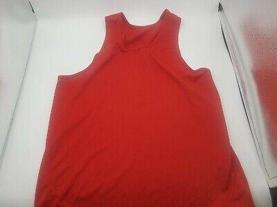 Aasics Size M Tank Top Red Men
