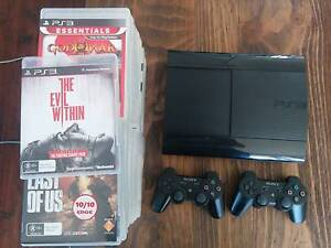 PS3 500gb Super Slim, 2 Controllers + 37 Games Sydney City Inner Sydney Preview