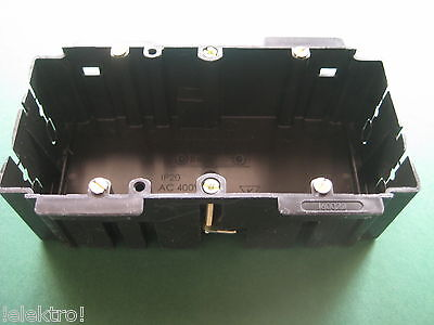 Kabelkanaldose Geräteeinbaudose 2fach passend für Brüstungskanal BR Kanal