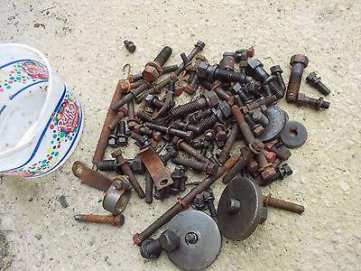 Farmall M Tractor Box Ih Bolts Nuts Parts Pieces Bracket Washers Bolt Nut
