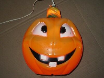 Two Faced Halloween (VINTAGE UNIQUE TWO FACED JACK O' LANTERN BLOW MOLD PUMPKIN HALLOWEEN LIGHT 13