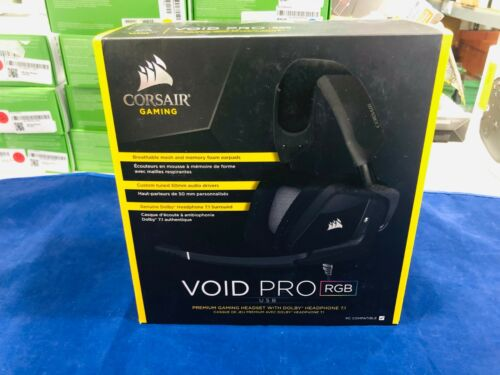 CORSAIR VOID PRO RGB Wireless Dolby 7.1-Channel Surround Sound Gaming Headset for PC Carbon Black CA-9011152-NA