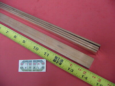 5 Pieces 18 X 34 C110 Copper Bar 14 Long Solid Flat Mill Bus Bar Stock H02
