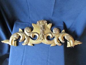 ancien fronton de miroir en bois sculpte et dore ebay. Black Bedroom Furniture Sets. Home Design Ideas