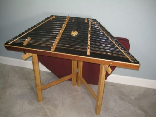 DUSTY STRINGS D500 Hammered Dulcimer 3+Oct Instrument Carrying Case Stand USED