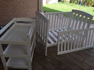 Kids cot and change table Seaford Morphett Vale Area Preview