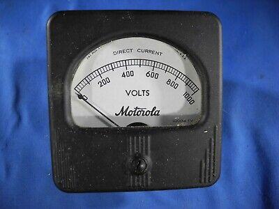 Vintage Motorola Panel Meter 0-1000 Volts Dc Gauge Steampunk