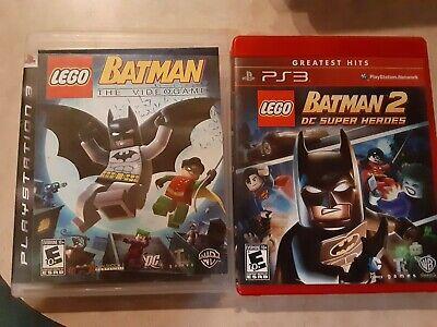 Lego Batman and Lego Batman 2 PS3 Video Games (Manuals Included)