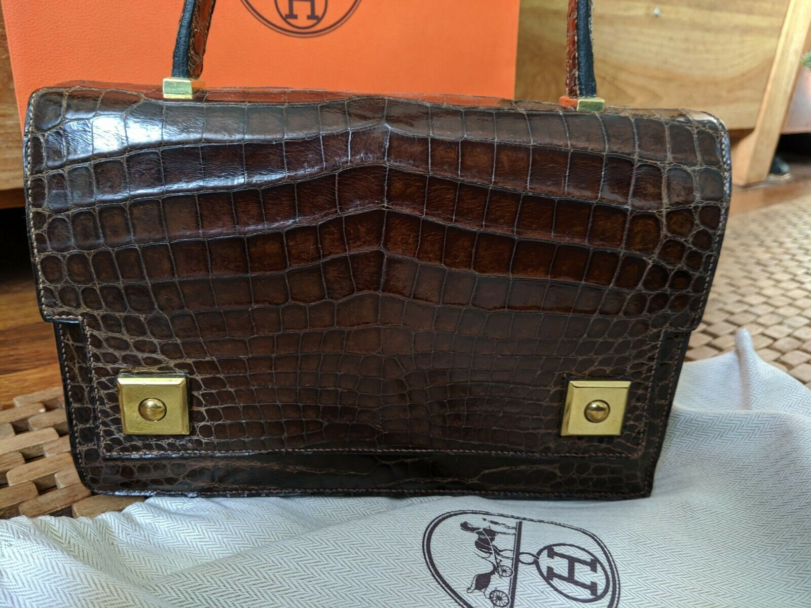 Hermes paris, crocodile, piano, sac, bag