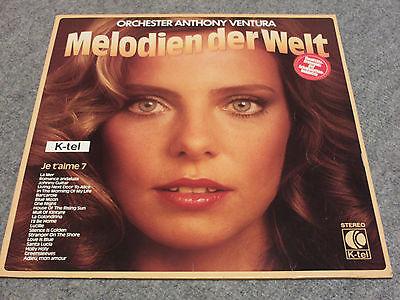 """BRD-K-TEL-VINYL-SCHALLPLATTE-LP""""MELODIEN DER WELT"""" VON 1978"""