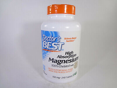 Doctor's Best High Absorption Magnesium 100% Chelated w Albion 240 Tabs