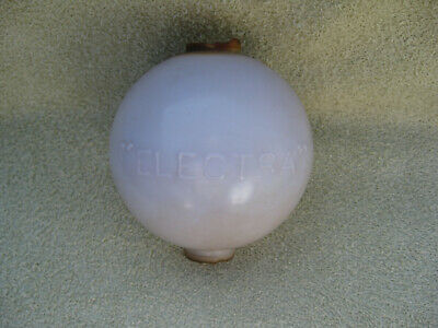 White Milk Glass Electra Lightning Rod Ball with SCA Tint