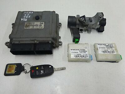 2005 Volvo XC90 V70 S60 XC70 2.4 D5 185 engine ECU kit ignition & key 30729826