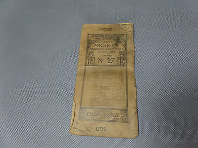 Card Michelin N°27 Very Bad Condition 1910-1923/Collector Bibendum Vintage