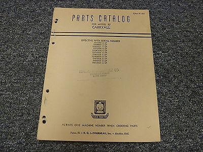 Letourneau Model Su Carryall Scraper Parts Catalog Manual Pc218