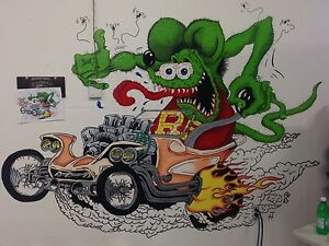 Custom garage / man cave murals
