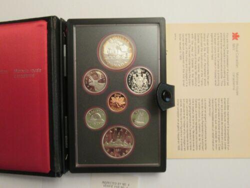 1981 Canada Proof 7 coin set, Trans Canada RR 50% silver dollar mint pkg COA