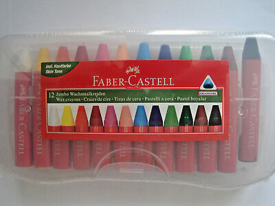 Faber Castell 12 Jumbo Wachsmalkreide