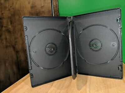 3 Disc Cddvd Case With 1 Tray Black