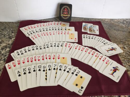 VTG Made England Tin Budweiser Busch Brewing 2 Decks Playing Cards Classic Beer