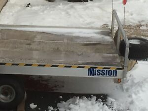 Double skidoo trailer Mission 7ft w by 8ft l