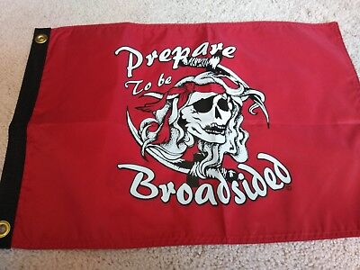 pirate nylon decorative flag double sided 12